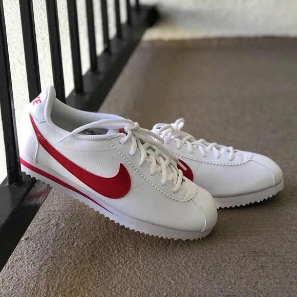 promo code bf992 0a7a3 NWT Nike Cortez Leather WhiteRed WMNS